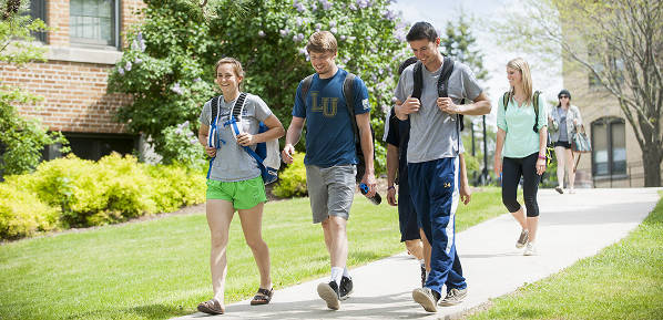 Lakeland University students on campus